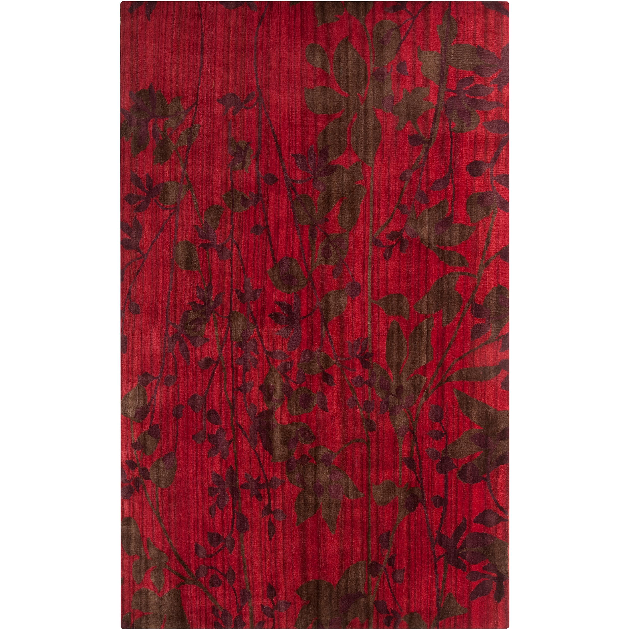Hand-knotted Simi Burgundy Wool Rug (8' x 11')