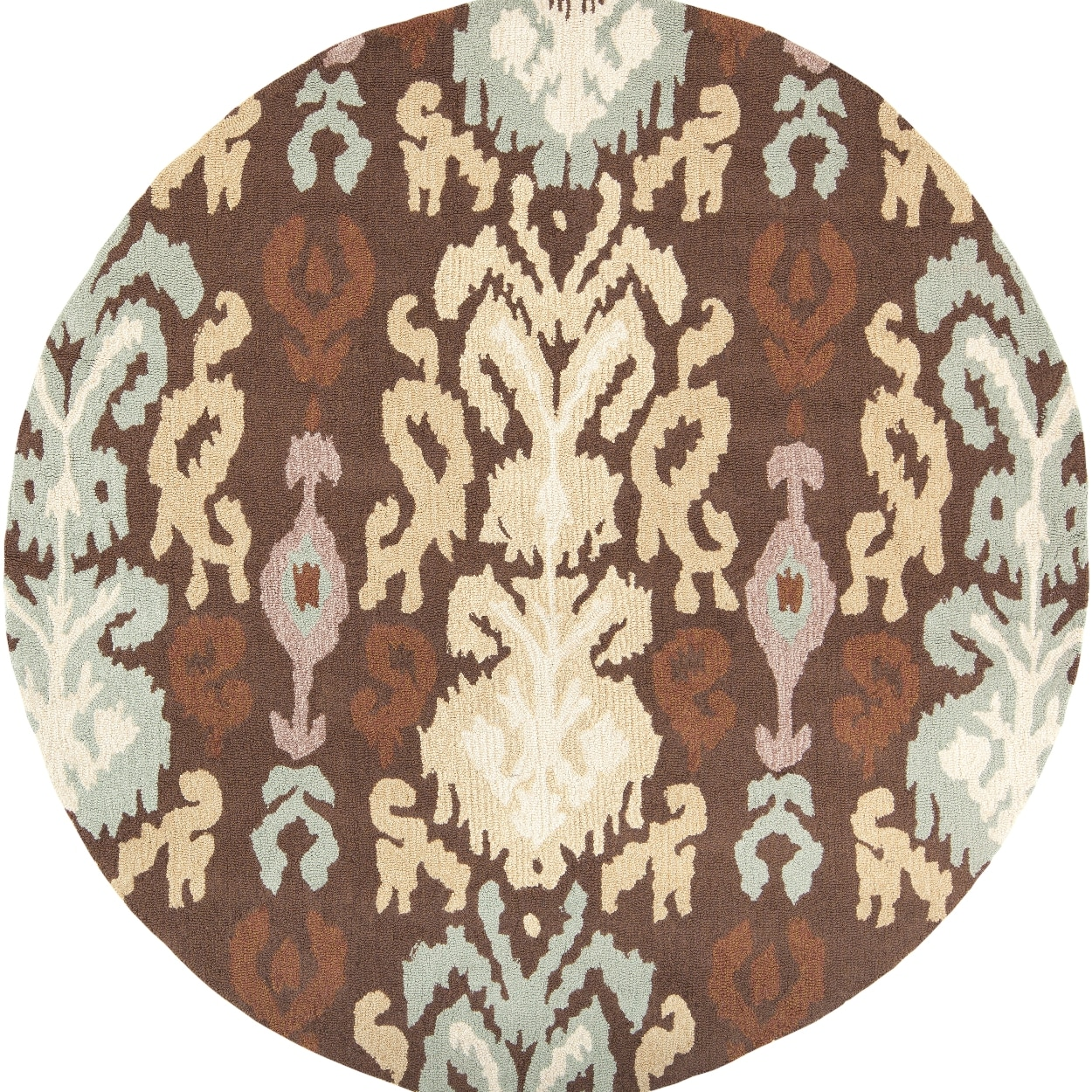 Hand-hooked Sour Brown Rug (4' Round)