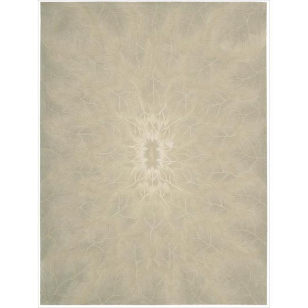 Nourison Hand-tufted Moda Ivory Leaf Pattern Rug (9'6 x 13'6)