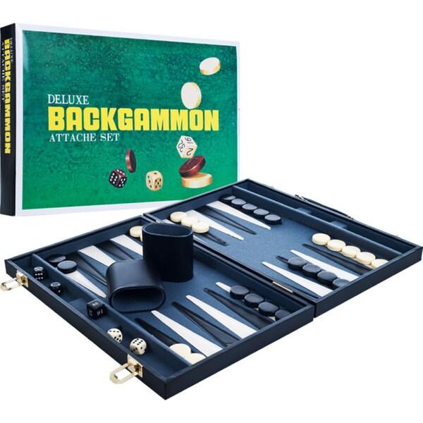 Trademark Games 14.6-inch Deluxe Backgammon Attache Set