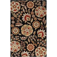 Hand-tufted Valentine Black Wool Area Rug (2' x 3')