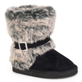 Journee Collection Kid's 'Huffy' Buckle Accent Faux Fur Boots|https://ak1.ostkcdn.com/images/products/7279855/P14755468.jpg?impolicy=medium
