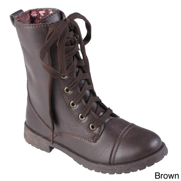 Journee Collection Kid's 'Millie' Tall Lace-up Boots