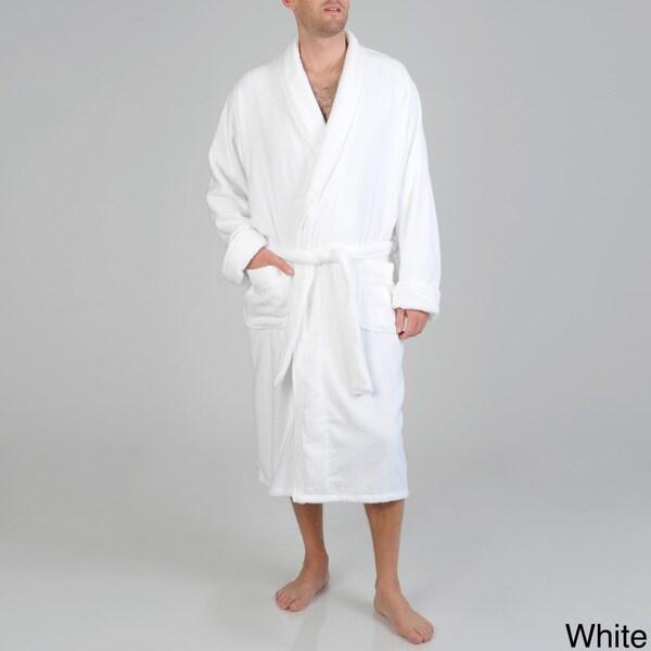 Izod Men's Popcorn Texture Terry Velour Robe