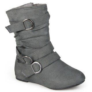 Journee Collection Kid's 'Sarena' Buckle Accent Suede Boots|https://ak1.ostkcdn.com/images/products/7279880/P14755491.jpg?_ostk_perf_=percv&impolicy=medium