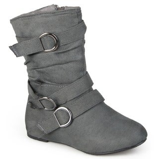 Journee Collection Kid's 'Sarena' Buckle Accent Suede Boots (More options available)