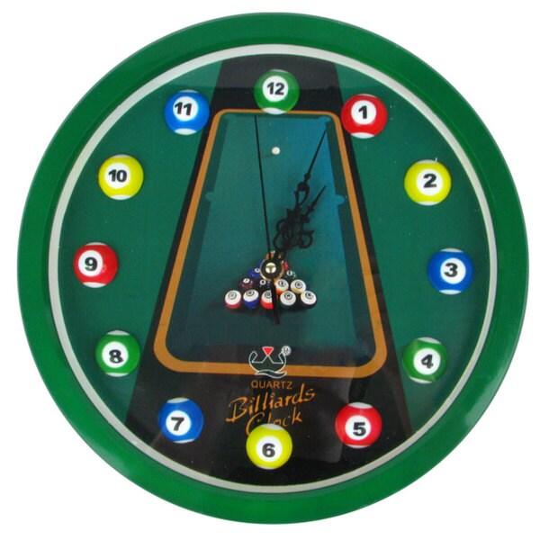 Quartz Movement Ball Set Hang Billiards Clock