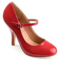 Journee Collection Women's 'Leslie' Patent Round Toe Mary Jane Pumps