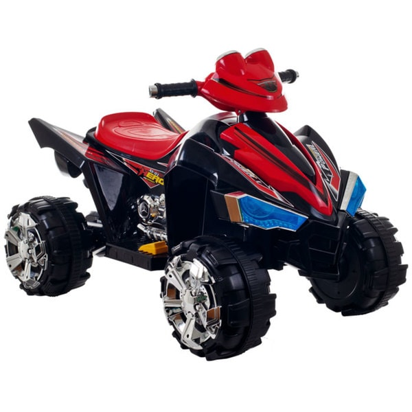 Ride On Toy Quad, Battery Powered Ride On Toy ATV Four Wheeler With Sound Effects by Lil' Rider – Toys for Boys & Girls