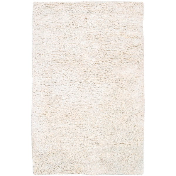 Hand-woven Victorville Ivory Wool Rug (2' x 3')