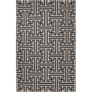Woven Woodley Blue Wool Rug (2' x 3')