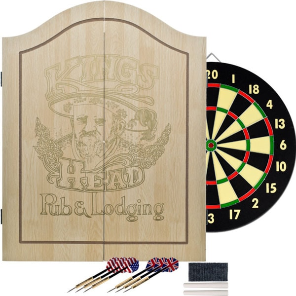 King's Head Light Wood Value Dartboard Set
