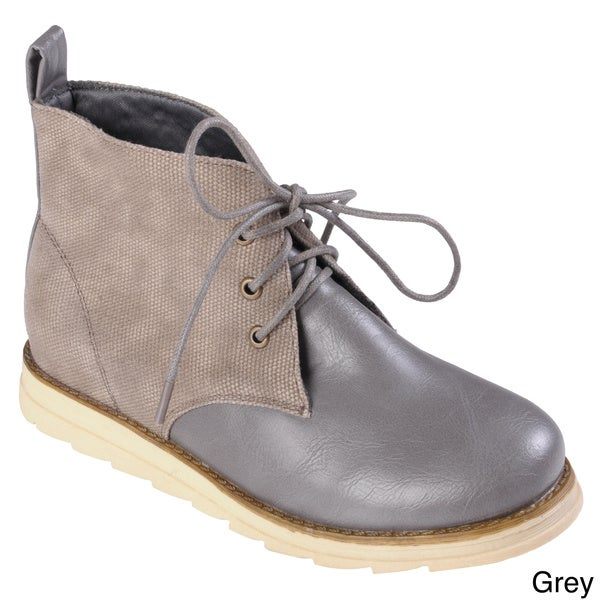 Hailey Jeans Co. Women's 'Tide' Two-Tone Lace-Up Chukka Ankle Boots