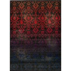 "Vintage Ikat Fire Multi New Zealand Wool Rug (9'10"" x 12'6"")"