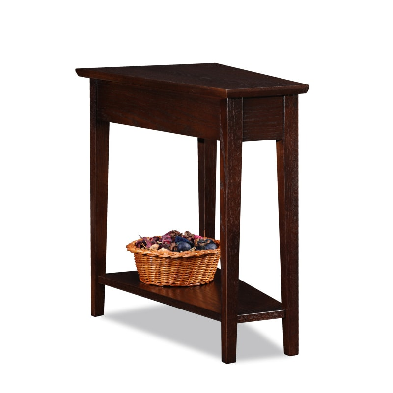 KD Furnishings Favorite Finds Recliner Wedge Table, Brown