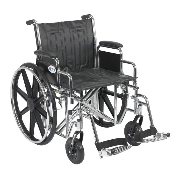 Sentra Bariatric EC Heavy-duty Wheelchair with Detachable Desk Arms and Elevating Leg Rests