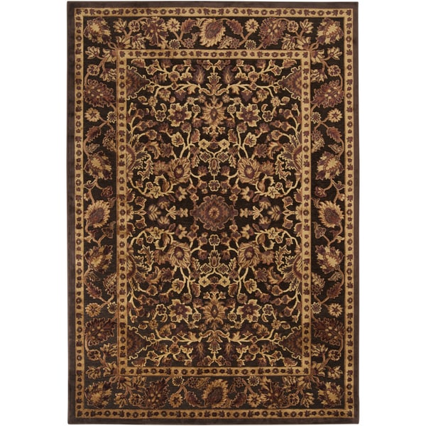 Woven Botein Rust Viscose/ Chenille Rug (5'1 x 7'6)