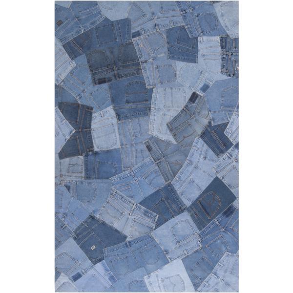 Woven Kaitos Denim Blue Rug (8' x 11')