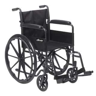 Drive Medical Silver Sport 1 Wheelchair with Full Arms and Swing Away Removable Footrest|https://ak1.ostkcdn.com/images/products/7280221/P14755757.jpg?impolicy=medium