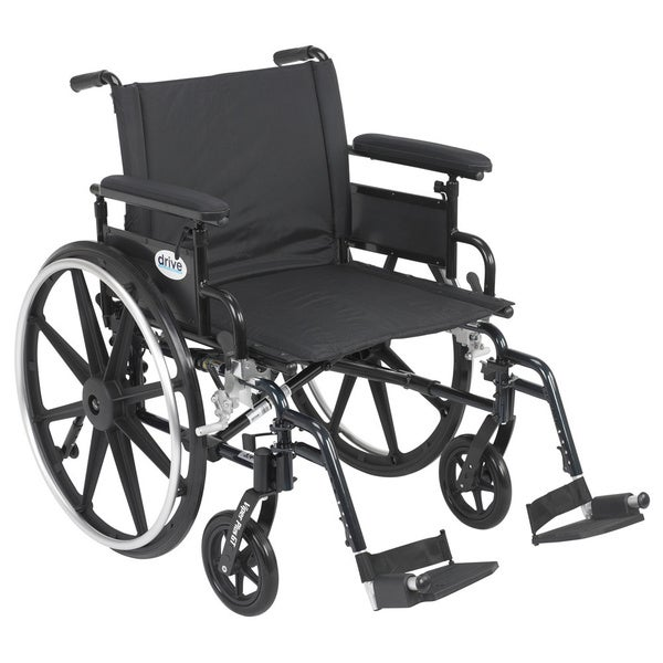 Viper Plus GT Wheelchair with Flip-back Adjustable Arms with Various Front Riggings