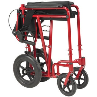 Drive Medical Lightweight Expedition Transport 19-inch Wheelchair with Hand Brakes