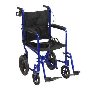Drive Medical Lightweight Expedition Transport 19-inch Wheelchair with Hand Brakes (2 options available)