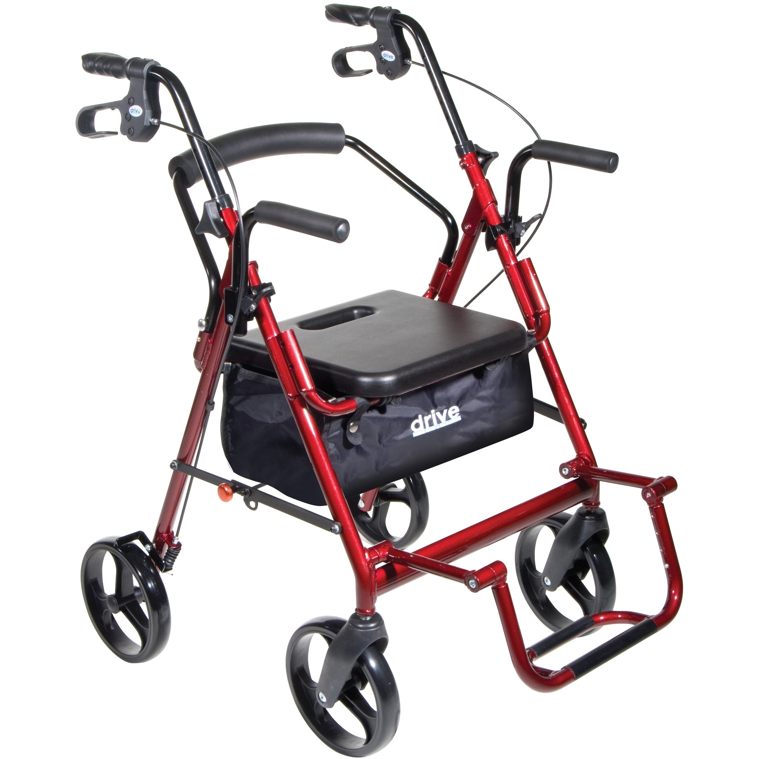 Drive Medical Duet Dual Function Burgundy (Red) Transport...