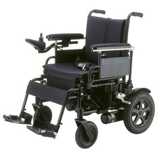 Cirrus Plus Folding Power Wheelchair with Footrest and Batteries - Black