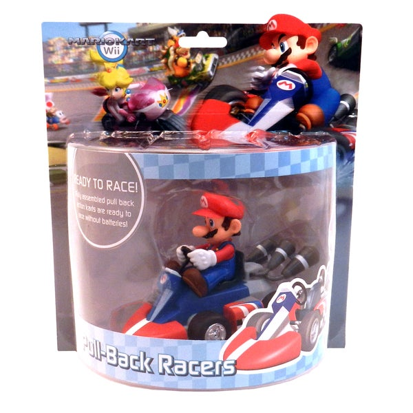 Super Mario Brother Mario Large Pull Back Racer Car