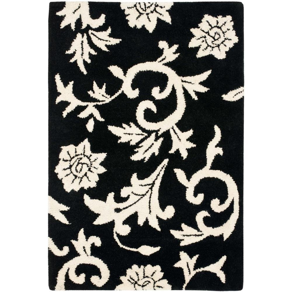 Safavieh Handmade Soho Sillo Black New Zealand Wool Rug (2'6 x 4')