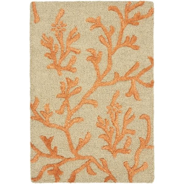 Safavieh Handmade Soho Ferns Green New Zealand Wool Rug (2'6 x 4')