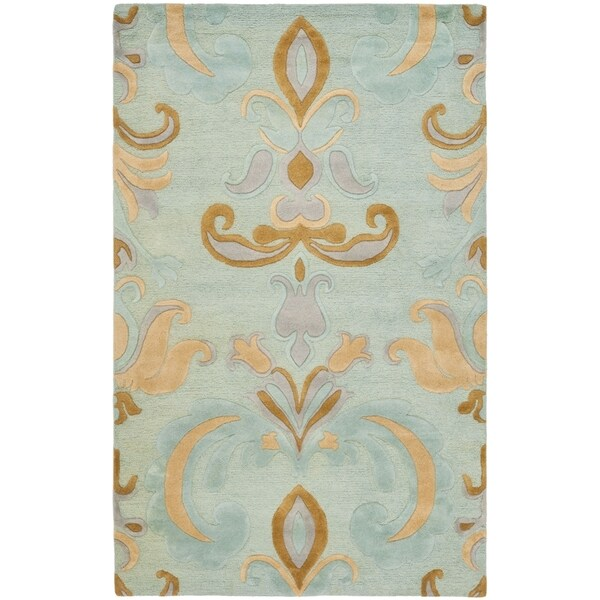 Safavieh Handmade Soho Passage Light Blue New Zealand Wool Rug - 8'3 x 11'
