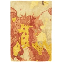 Safavieh Handmade Soho Splashes Modern Abstract Beige Wool Rug - 2'6 x 4'