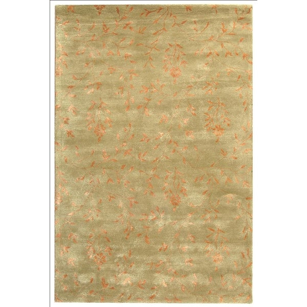 Safavieh Handmade Tranquility Sage New Zealand Wool Rug - 8'3 x 11'