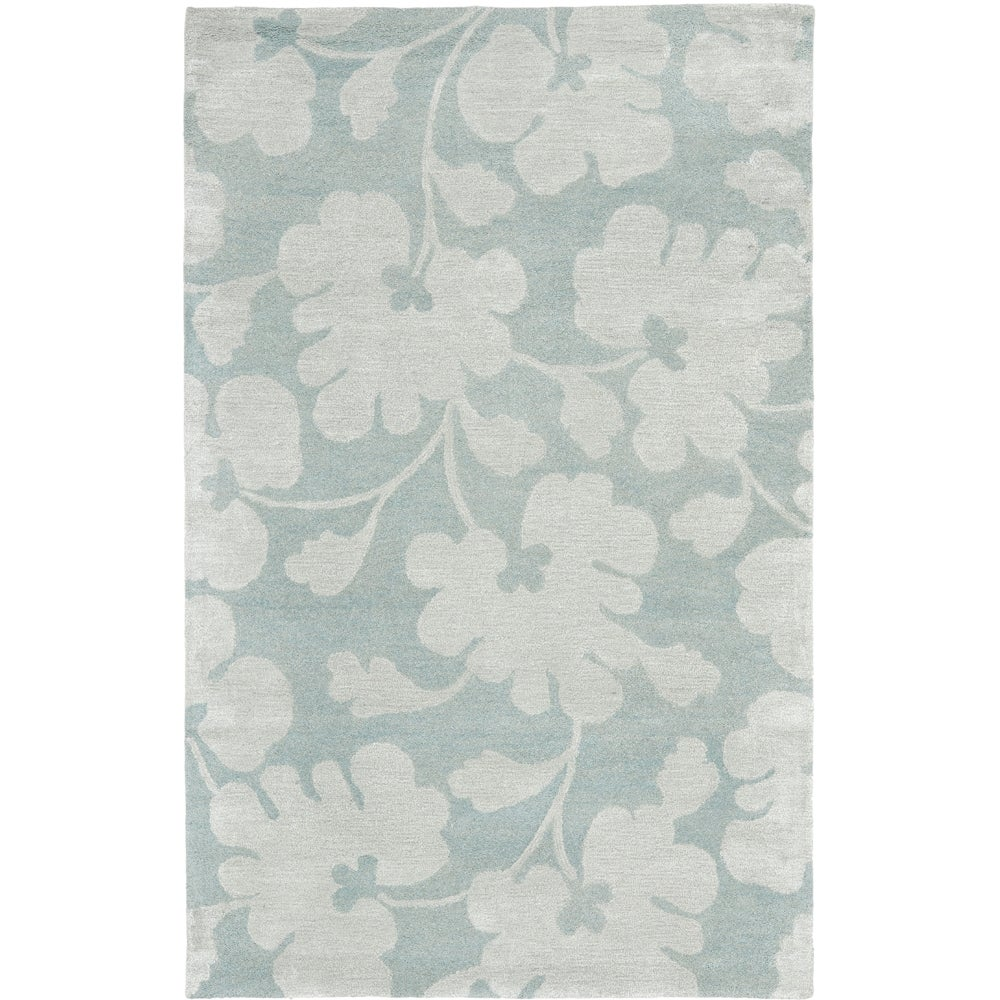 Safavieh Handmade Shadows Light Blue New Zealand Wool Rug (3'6 x 5'6')