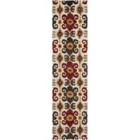 "Safavieh Handmade Festive Ivory New Zealand Wool Rug - 2'6"" x 8'"