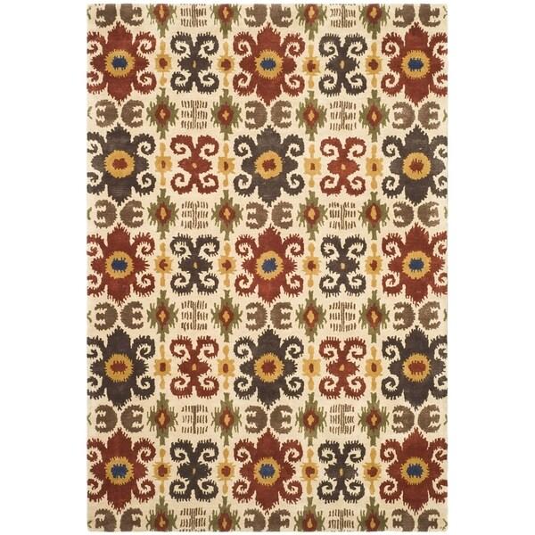 Safavieh Handmade Festive Ivory New Zealand Wool Rug - 9'6 x 13'6