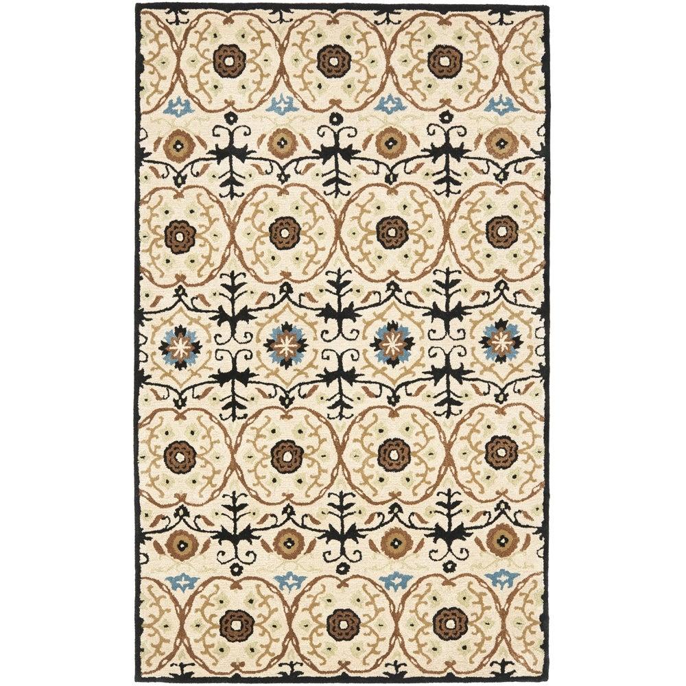 Safavieh Handmade Gramercy Ivory New Zealand Wool Rug (7'6 x 9'6)