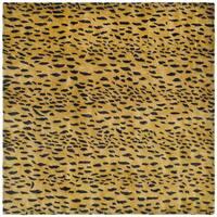 Safavieh Handmade Soho Leopard Skin Beige Wool Rug - 8' x 8' Square