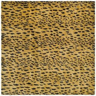 Safavieh Handmade Soho Leopard Skin Beige Wool Rug (8' Square)