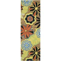 "Safavieh Handmade Flower Power Brown New Zealand Wool Rug - 2'6"" x 12'"