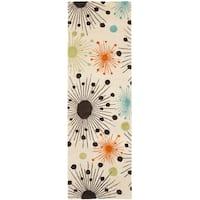 "Safavieh Handmade Cosmos Ivory New Zealand Wool Rug - 2'6"" x 12'"