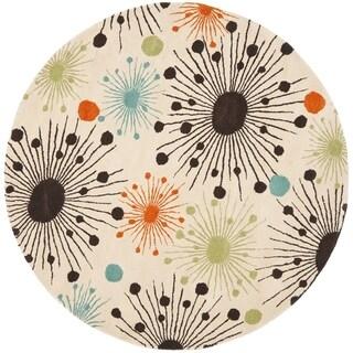 Safavieh Handmade Cosmos Ivory New Zealand Wool Rug (8' Round)