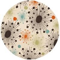 Safavieh Handmade Cosmos Ivory New Zealand Wool Rug - 8' Round