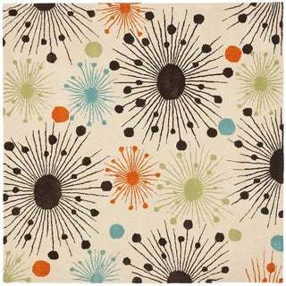 Safavieh Handmade Cosmos Ivory New Zealand Wool Rug (8' Square)