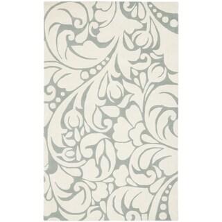 Safavieh Handmade New Zealand Wool Flow Ivory Rug (8' x 10')