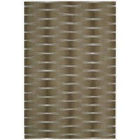 Nourison Hand-tufted Moda Brown Geometric Rug - 8' x 11'