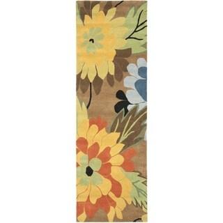 Safavieh Handmade New Zealand Wool Garden Brown Rug (2'6 x 6')