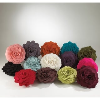 Round Felt Flower Decorative Pillow (4 options available)