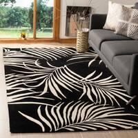 Safavieh Handmade New Zealand Wool Ferns Black Rug - 5' x 8'